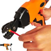 electric battery powered handheld cable wire crimper