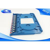 Wholesale ODF Rack Mount Fiber Panel With FC SC ST LC Adapters , Wall Mount Fiber Patch Panel 12 Port from china suppliers
