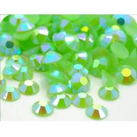 Wholesale flat back neon rhinestones lt green from china suppliers
