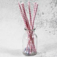 Buy cheap 6mm small caliber pearl milk pink Horizontal stripes color Biodegradable Paper Drinking Straws from wholesalers