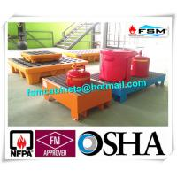 Wholesale Steel Spill Containment Pallets , Oil Drum Spill Pallet For IBC Drum from china suppliers