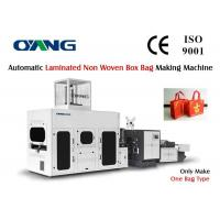 Wholesale No Reverse Laminated Non Woven Box Shopping Bag Making Machine With Handle from china suppliers
