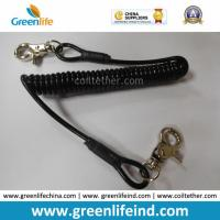 Wholesale Retracted Black Coil Lanyard with Customized Attachments from china suppliers