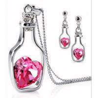 Quality Colrful Drift bottles of Crystal Jewelry Accessories Earrings Necklace for sale