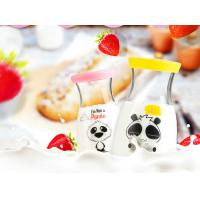 Wholesale Panda Slim Waist Cute Glass Water Bottles With Glass Lid Healthy Drink Bottles from china suppliers