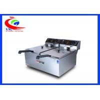 Wholesale Double tank Table top stainless steel commercial electric deep fryer from china suppliers