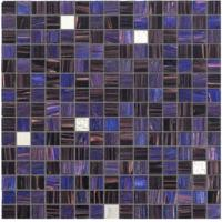 Wholesale Misterious style with gold line glass mosaic mix pattern deep purple blend from china suppliers
