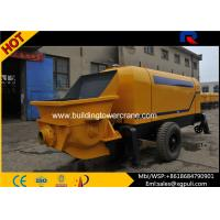 Wholesale High Pressure Concrete Trailer Pump , Concrete Pumping Machine Filling Height 1.4M from china suppliers
