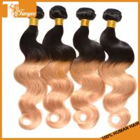 Wholesale 5A Ombre Hair Two Tone 1b/27 Brazilian Body Wave Human Hair Extension from china suppliers