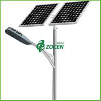 Wholesale Cold White 2 pcs 36W Highway Solar Panel Street Lights with 10M Pole from china suppliers