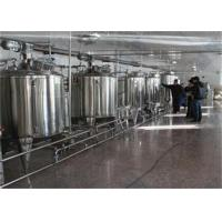 Wholesale 1000L / H UHT Milk Processing Line Complete Combined Dairy Line from china suppliers