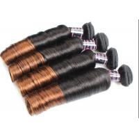 Wholesale Colored Ombre Indian Human Hair Weave Egg Curl No Any Bad Smell from china suppliers