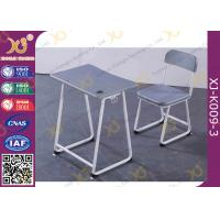 Buy cheap Plastic Seat Customized Height Student Desk And Chair Set In Grey Color from wholesalers