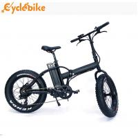 Wholesale high quliaty 48v 500w Bafang geared  motor 20inch folding mountain Fat tire electric Bike from china suppliers
