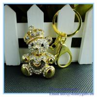 Wholesale Shinny gifts handmade bear shape metal keychain from china suppliers