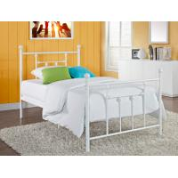 Wholesale Victorian Elegant Full Size Metal Beds , White Wrought Iron Bed Frame from china suppliers