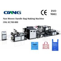 Wholesale 40-100pcs / min Automated Non Woven Box Bag Making Machine Customized from china suppliers