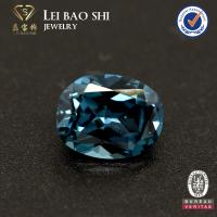 Quality wholesale 122# night blue color synthetic gemstone cushion cut lab diamonds spinel for jewelry for sale