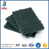 INFOK heavy duty abrasive nylon green kitchen cleaning scouring pads