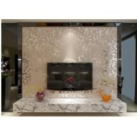 Wholesale European Style Embossed Vinyl Wallpaper Silver Grey Leaf Pattern for Home , Hotel from china suppliers