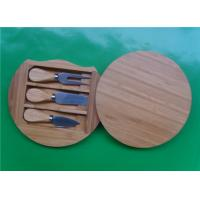 Wholesale Round Bamboo Knife Cheese Board from china suppliers