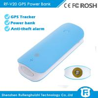 Wholesale 4500mAh long battery life hidden anti-lost spy gps tracker power bank from china suppliers