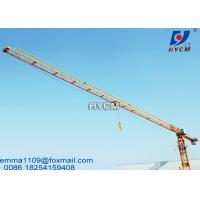 Buy cheap PT6013 Flattop Tower Crane Fixing Hydraulic Climbing Type 148ft Height from wholesalers
