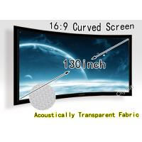 "Wholesale 130""  Wall mount Curved Projection Screen /  Acoustically Transparent Screens For Movie from china suppliers"