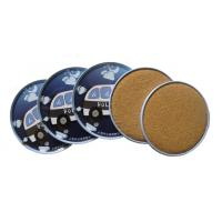 Wholesale Promotional cheap fashion tin coaster with cork base set 4  in tin box from china suppliers