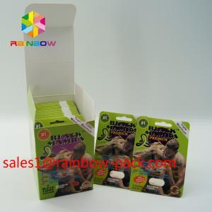 Quality hot sale 3D printing card Black mamba 3D cards3d sex pills packaging paper card 3D sex pill card enhancement pill boxes for sale