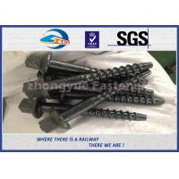 Wholesale Material 45# Railway Custom Railroad Track Spikes , Threaded Screw Spike from china suppliers