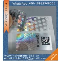 Custom logo 3d honeycomb pattern  hologram sticker, tamper evident void hologram sticker label