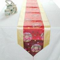 Wholesale Jacquard Brocade Table Runner/Table Cloth, Ideal for Home and Hotel, OEM Orders are Welcome from china suppliers