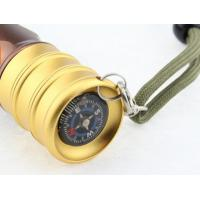 Quality Brightest Waterproof Rechargeable Led Flashlight 200 lumen Compass on the Bottom for sale