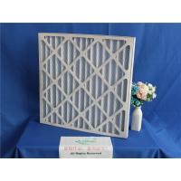 Wholesale Aluminum Frame Plank Metal Mesh Pre Filter , Foldaway Pleated Panel Air Filters from china suppliers