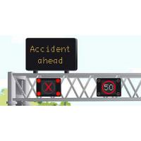 Buy cheap Lightweight Aluminum Alloy Led Speed Restriction Signs , Durable Led Speed Warning Signs from wholesalers