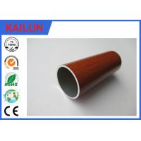 Wholesale Home Decoration 30 mm Extruded Aluminium Tube With Wood Grain Painted Treatment from china suppliers