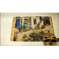 Buy cheap Rectangular Rubber Floor Carpet Soft With Custom Printed For Bedroom from wholesalers