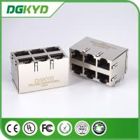 Wholesale POE Rj45 Connector RJ45 Stack Jack MagJack 10/100BaseT 2X3 Y/G -40 - 85*C from china suppliers