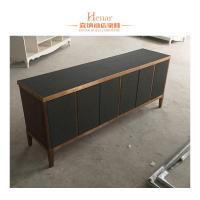 Wholesale Black Modern Console Table With Storage Drawers And Shelf , Cabinet from china suppliers