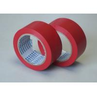 Quality Red Adhesive Floor Marking Tape PVC Film Thickness 0.5MM For Pipe Wrapping for sale