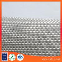 Wholesale creamy white textilene mesh fabric Outdoor 2X1 weave Anti-UV fabric waterproof from china suppliers