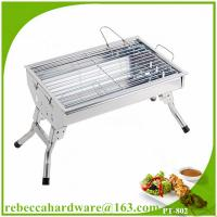 Wholesale Hot sale portable stainless steel charcoal barbecue grill kit from china suppliers