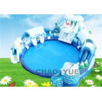 Buy cheap Commercial PVC Snow World Inflatable Floating Water Park CE Blower 18 OZ from wholesalers