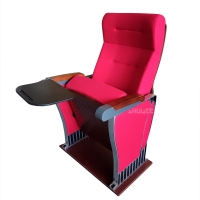 Wholesale Foldable Audience Seating PU Molded Foam Anti Stained Auditorium Chairs With Writing Board from china suppliers