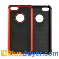 Wholesale Red Case for iPhone 5 - Rugged Hard Plastic and Silicone from china suppliers