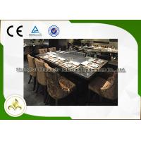 Wholesale 7 Seat Electric Induction Teppanyaki Grill Table Basic Configuration CE ISO9001 Certification from china suppliers