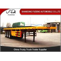 Wholesale 40 Ft Flatbed Container Semi Truck Trailer BPW Axles Air Suspension from china suppliers