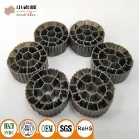 Wholesale PE06 MBBR Filter Media With Balck Color And  Virgin HDPE Material For 25*12mm Size from china suppliers