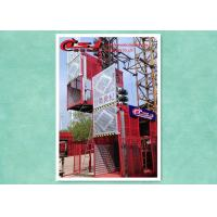 Quality Safety Twin Cage Building Material Lift For Construction , Man And Material Hoist for sale